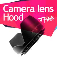 77mm Screw Mount Flower Lens Hood for Canon Nikon Tamron Sony