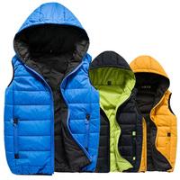 New arrival high quality autumn winter casual male men vest candy color fashion men's vest M--5XL