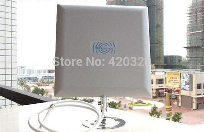 XH 2015 new Gain 14dbi Directional Panel Antenna kit SMA for WiFi Router 14db antenna wifi panel 2 meters low loss feeder(China (Mainland))