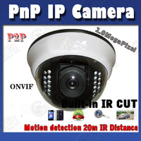 H.264 1.0MP Onvif 1080X720P IP camera 22pcs IR Leds Dome Security rj45 Network Camera surveillance camera Free Shipping