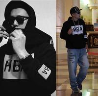 pullover sweatshirt 2014 winter autumn Hip Hop plus M-3XL Outdoor Black men woman Hood by air paid in full hoodie hba pif hipa
