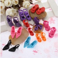 Free Shipping,Wholesale Cheap 15pairs Mix Styles Colorful Assorted shoes for Barbie Doll