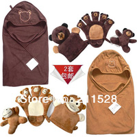 Baby cartoon double layer ultrafine 100% cotton towel holds blankets bath towel pack blankets toy 722542