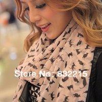 2013 NEW HOT Fashion trendy Cozy women ladies Noble women's scarf shawl neckerchief muffle designs Sexy cat