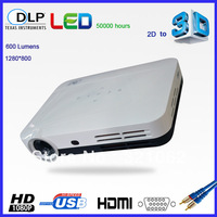 Free Shipping Smart 3d Projector full hd 1080p with hdmi vga usb for Home Theater