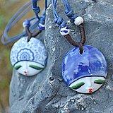 Freeshipping !!! Impressionante de cerâmica jóias artesanais bonecas bonito cabeça colar ou como camisola cadeia(China (Mainland))