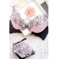 New 2014 embroidery women's bra & brief sets lady lace sexy push up bra set candy garter brassiere underwear lingerie set