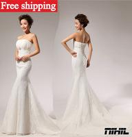 2013 new Sexy White fashion crystal bra flower bride dress fashion Lovely princess dress retro gothic mermaid wedding dresses