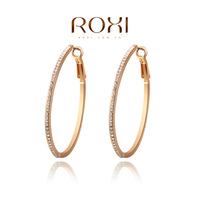 ROXI fashion new arrival, genuine  Austrian crystal,fine Hoop Earrings,women trendy earringsChrismas /Birthday gift