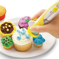 for baking electric decorating pen sauce pen decorating device icing device cake decoration mould free shipping 0097