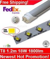 2014 www hot sex com led t8 tube light ,1200mm 18W 1800lm 2835SMD LED Tube T8 100pcs/lot FedEx Free Shipping