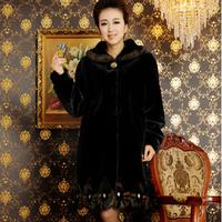 New Fashion Plus Size Fall Winter Warm Luxury Overcoats Ladies Long Style Mink Fur Outerwear Polish Jacket Women's Fur Coat A574