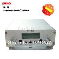 15W  FM transmitter FMU SER ST-15B stereo PLL broadcast radio with 86MHz-108MHz-100khz,whosesales