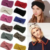 10 pcs/Lot  16colors Winter women Wholesale Knit Hairband Crochet ear warmer Head wrap Headband Gift