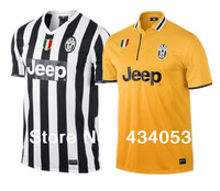 Top Thai Quality Juventus Soocer Jersey 13 14 TEVEZ LLOREENTE PIRLO MARCHISIO VIDAL VCINIC Juventus home away football shirts
