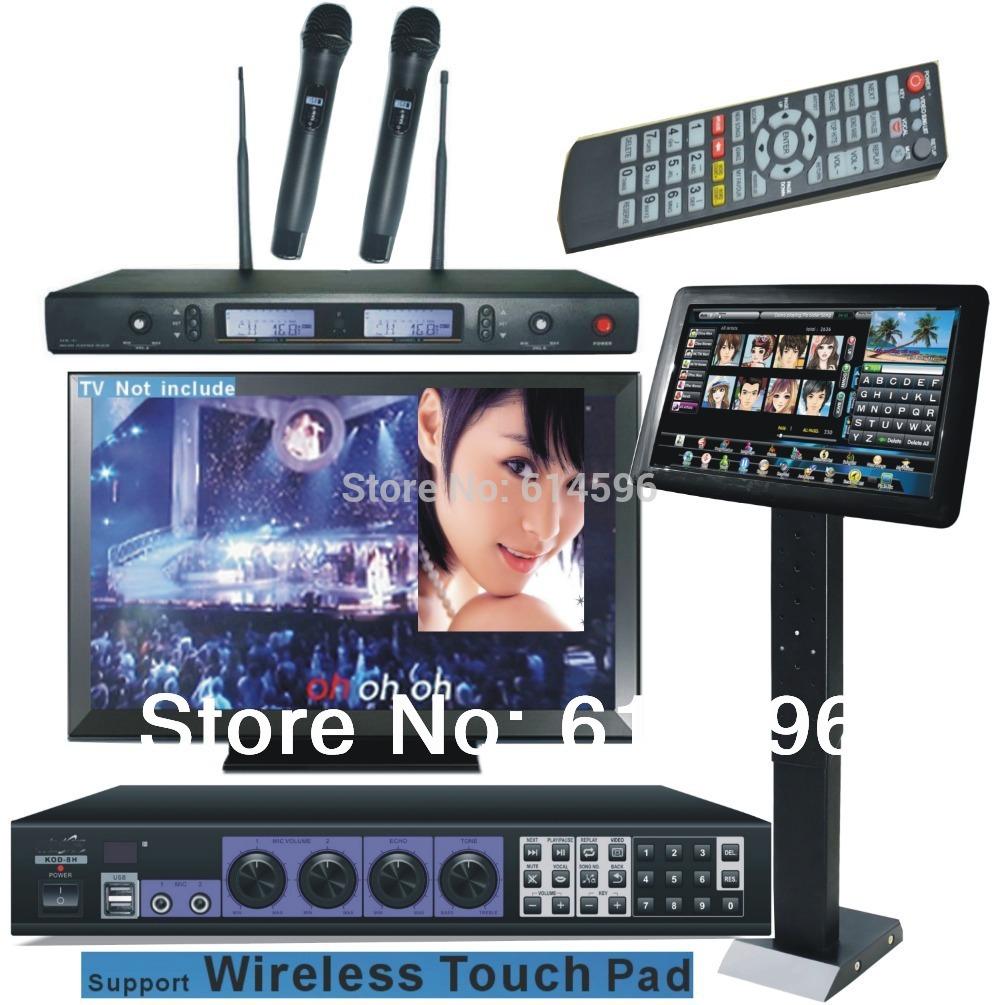 "Karaoke Jukebox HDMI Karaoke Machine 3TB HDD System + 19""Touch Screen +2 UHF wireless cordless microphones(China (Mainland))"