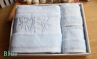 Free shipping Wholesale Towel gift  set 100% bamboo fiber bath towel piece set