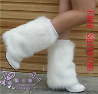 Fashion Women's Leg Warmers Ladies' Winter Super Warm Leg Sleeve Imitation Fox Fur Leg Guard 17 Colors 20CM long