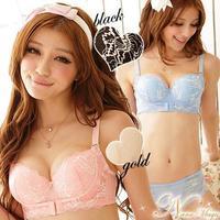 New 2015 anterior cingulate water bra adjustable thickening bra breasted side closed women push up underwear bra free shippping