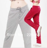 2013 fashion Autumn new casual long pants harem pants feet female Korean version large size women pants gym trousers cotton