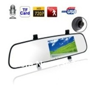 Newest 1080P Car Rearview Mirror 2.7 Inch LCD Support H.264 Motion Detection Loop Recording Car DVR 140 degrees wide-angle lens