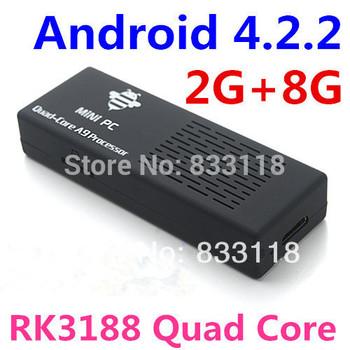 MK908 RK3188 Quad Core Android 4.2.2 Mini PC TV Box Skype XBMC Google TV