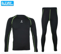 warm up compression tights skilling base layer  running Fitness cycling  thermal Fleeces men's wear shirts jerseys pant suits 51