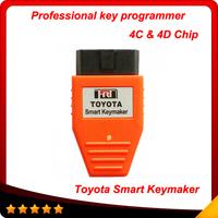 For Toyota Smart Key maker 4C 4D chip For Toyota Smart Keymaker OBD2 Eobd TRANSPONDER KEY PROGRAMMER Free Fast shipping
