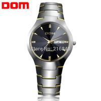 Lovers'  Men Wrist Watch Quartz Hours Best Fashion Tungsten Steel Auto Date Water Resistant Business High Quality Gift 698