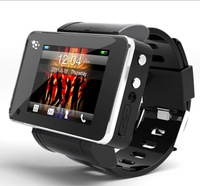 2013 second generation intelligent dual webcam touch screen watch mobile phone waterproof white