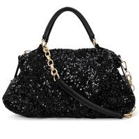 0675 Sequins Women New Fashion Chain pu Handbag Europe and America OL Shoulder bag Messenger bag 2013 brand designer handbag
