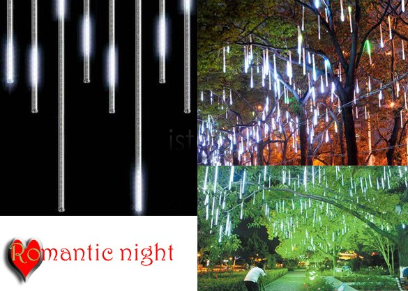 30CM christmas lights,Meteor Shower Rain Tubes LED Light for Party Wedding Decoration 110-220V White/Blue EU Plug TK1169 TK1171(China (Mainland))