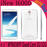 Original iNew I6000 MTK6589T Quad Core 2GB RAM 32GB ROM 6.5'' FHD IPS 1.5GHZ Android 4.2 13.0MP Smartphone