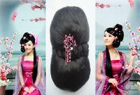 Wig bun meatball head headband head bud costume bride