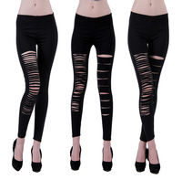Sexy Black Cut Out Get Ripped Stripper Exotic GOGO Dancer Lace Leggings 3 Design