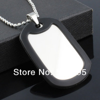 Customized Military Dog tag  stainless steel ID pendant necklace free chain 24 inch