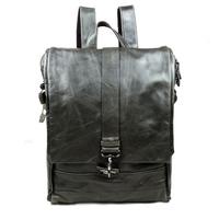 Fashion Genuine Full Grain Leather Cowhide Oil Wax Leather Men Women Shoulder Bag Bags Backpack Backpacks For Men Women 8875