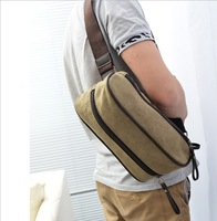 2013 new design male chest pack waistbag canvas bag factory direct sales