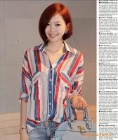 A00A Free shipping New 2013 blouses women cotton cardigan Causal long sleeve blusas tops femininas renda women clothing