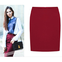 2013 New Winter Knee-Length Bust Skirt 3 Color Solid Slim Hip High Waist Big Size Fashion Skirts Ladies