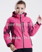 A+++ new arrival woman winter jackets Outdoor sports coat lady Waterproof removable windbreaker hoodies female free shipping HOT