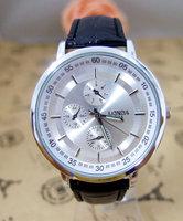 Hot sale Brand leather strap military watch men high quality casual sports quartz wristwatch londa-4