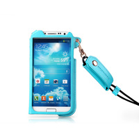 High Grade Cell Phone Shell/Protective Cover/PU Leather Case For SAMSUNG GALAXY S4/i9500 Hanging Lace 7 Colors Mixed Batch