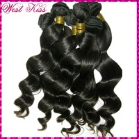 Raw WestKiss Hair--Filipino loose spiral curl wavy virgin weave tangle free,mix lot 4 bundles color #1b,Best Policies!