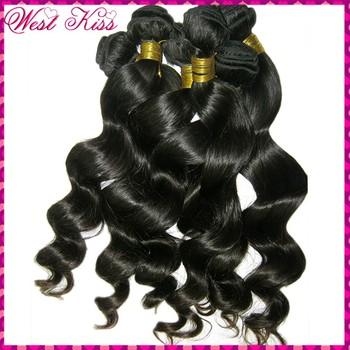 Raw WestKiss Hair--Filipino loose spiral curl wavy virgin weave tangle free,mix lot 4 bundles color #1b,Best Policies!