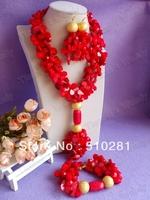 No. 2088  Design New african wedding jewelry set , coral jewelry set