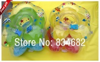 J.G Chen! 1pcs Green Blue Yellow Pink Cartoon Adjustable New Baby Aid Tube Infant Baby Swimming Neck Ring Float Circle Safety