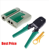 High quality Portable RJ45 RJ11 RJ12 Wire Cable Crimper Crimp Cutting Stripper PC Network Hand Tool Pliers and Cable Tester