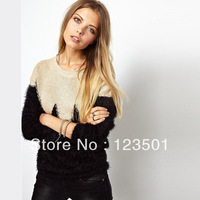 2013 New Women's Sweater Round Neck Loose Long Sleeved Sweater Sweater Knitted Garment