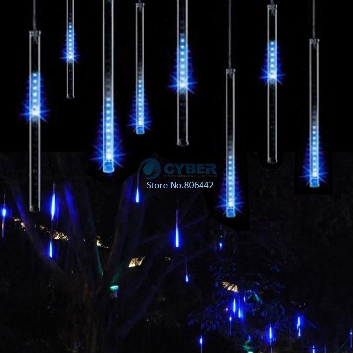 100-240V/EU 30CM Blue Meteor Shower Rain Tubes LED Light For Christmas Wedding Garden Tree Decoration Lamp TK1171(China (Mainland))